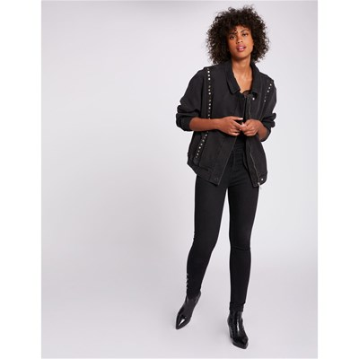 MORGAN Veste en jean - anthracite