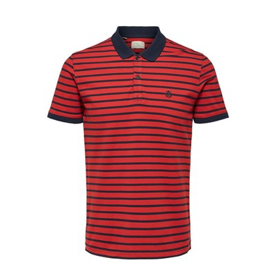 SELECTED Polo manches courtes - rouge