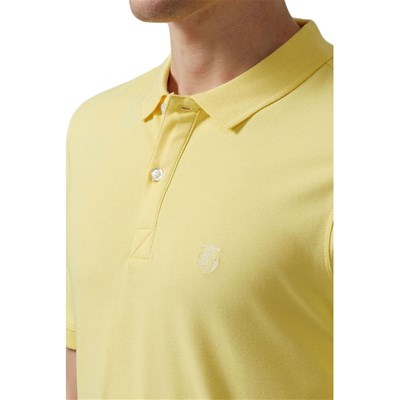 SELECTED Polo manches courtes - jaune