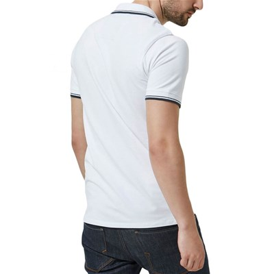 SELECTED Polo manches courtes - blanc