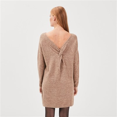 BONOBO JEANS Robe pull - taupe
