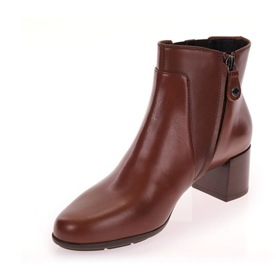 GEOX D New Annya Mid - Bottines en cuir - brun