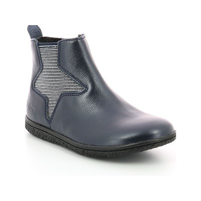 KICKERS Vermillon - Bottines en cuir - gris