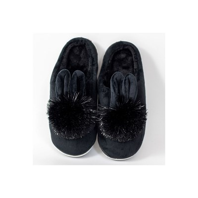 KEBELLO Chaussons lapins - noir