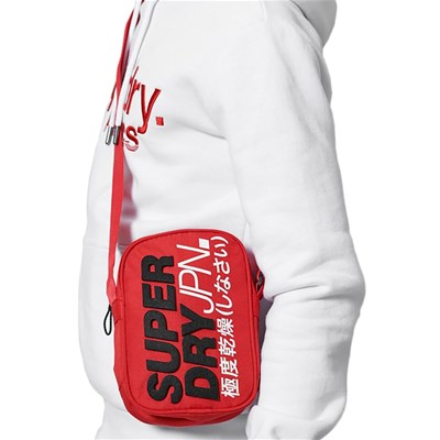 SUPERDRY Montaux side - Sacoche - rouge