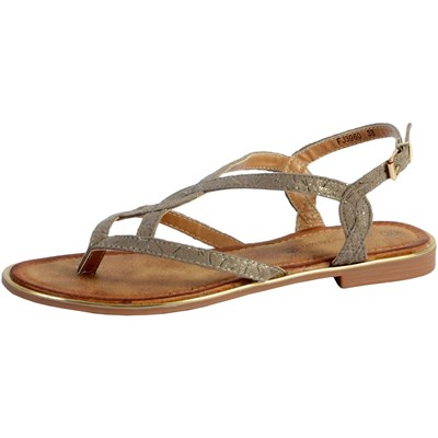 THE DIVINE FACTORY Nu-pieds - taupe