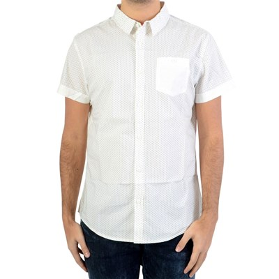 DEELUXE Treforest - Chemise manches courtes - blanc