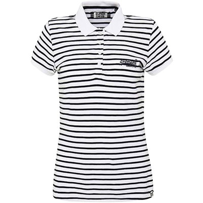 SUPERDRY Polo manches courtes - blanc