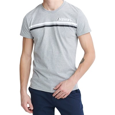 SUPERDRY T-shirt manches courtes - gris chiné