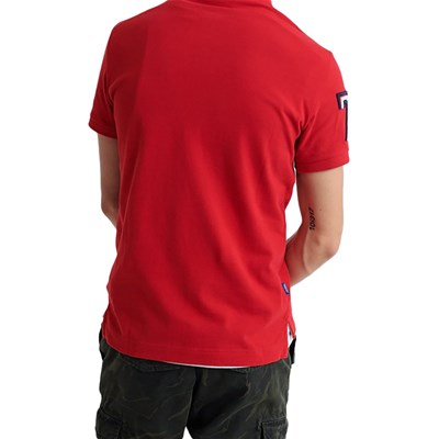 SUPERDRY Polo manches courtes - rouge