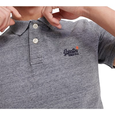SUPERDRY Polo manches courtes - gris chiné