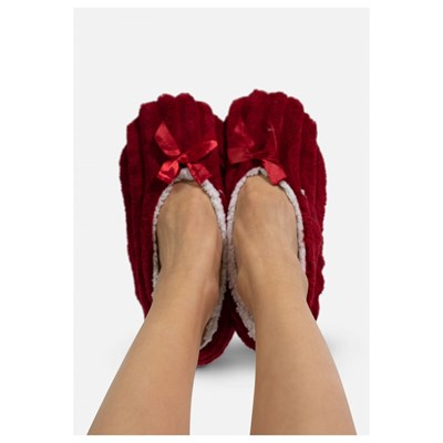 KEBELLO Chaussons ballerines fourrées - rouge