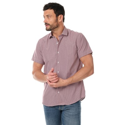 SINÉQUANONE HOMME Chemise manches courtes - rouge