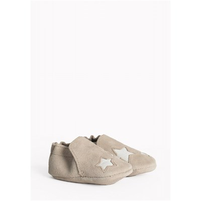 MINNETONKA Star infant bootie - Chaussons - gris clair