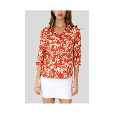 KEBELLO Chemise manches courtes - rouge