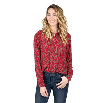 Oxbow - Caprisca - Chemise manches longues - rouge