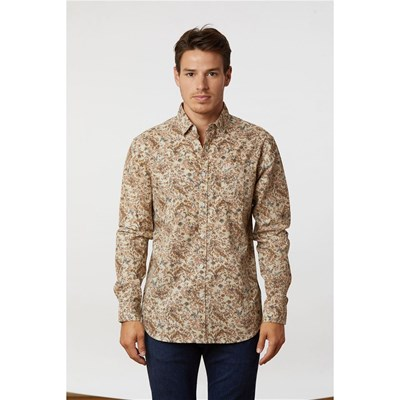 Lee Cooper - Derty - Chemise manches longues - beige