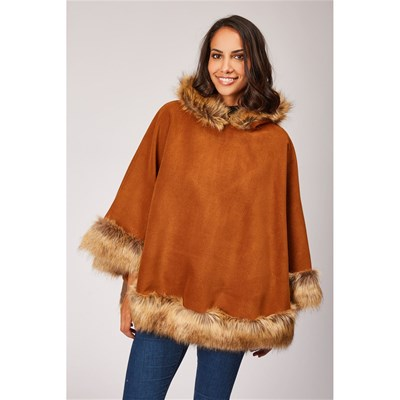 MADE IN ITALY Poncho - tabac