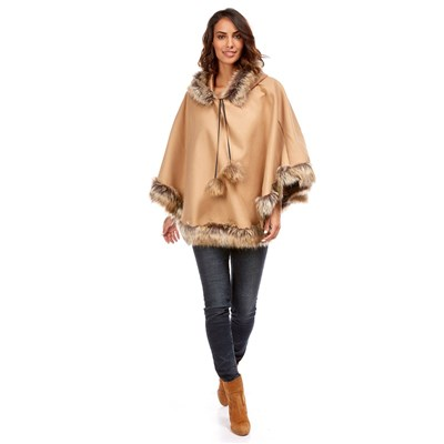 Made in Italy - Poncho - taupe