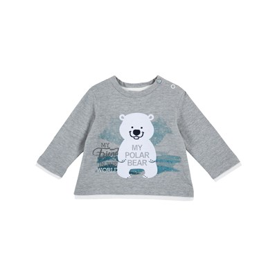 Chicco - T-shirt manches longues - gris