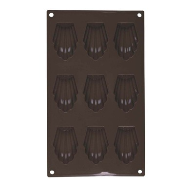 GUY DEGRENNE Newcook Delys - Moule pour 9 madeleines en silicone - marron