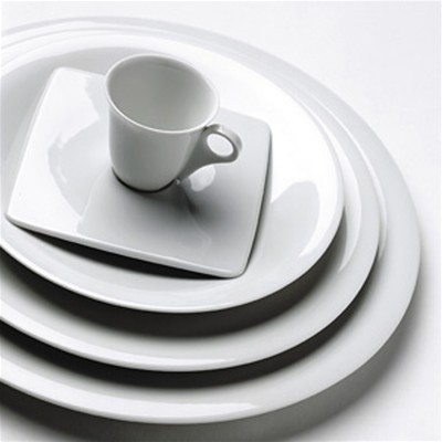GUY DEGRENNE SD ONE - Lot de 3 assiettes de présentation - blanc