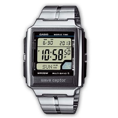 Casio Wave ceptor - montre digitale - argenté