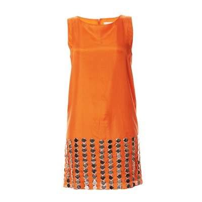 CHARABIA Robe en soie orange