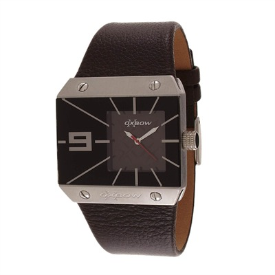 OXBOW Montre en cuir marron