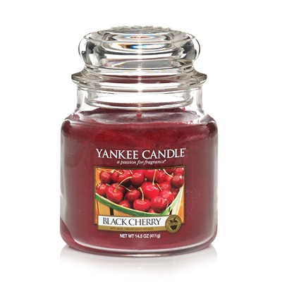 YANKEE CANDLE Cerise Griotte - Moyenne Jarre - rouge