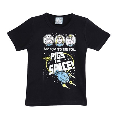LOGOSHIRT Muppets Pigs In Space - T-shirt - noir