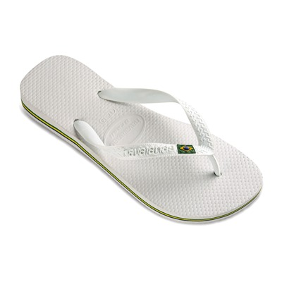 HAVAIANAS HAV. BRASIL WHITE 45/46 - Tongs - blanches