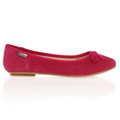 Ballerines en cuir rose
