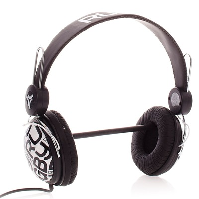 RUGBY DIVISION Headphone - Casque audio noir et blanc - noir