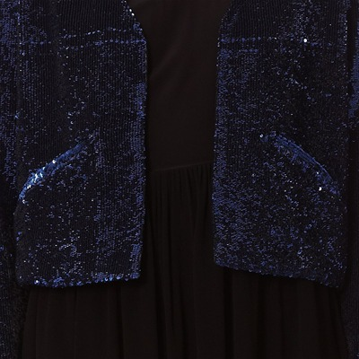 DRESS GALLERY Orleans - Veste brodée de sequins - bleu marine