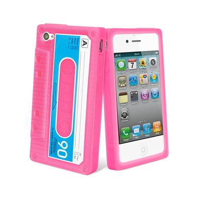 Muvit Coque en silicone pour iphone 4/4s - rose