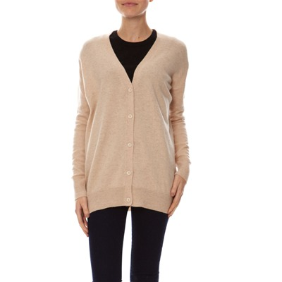 Cashmere 4 ever Gilet over-size - miel