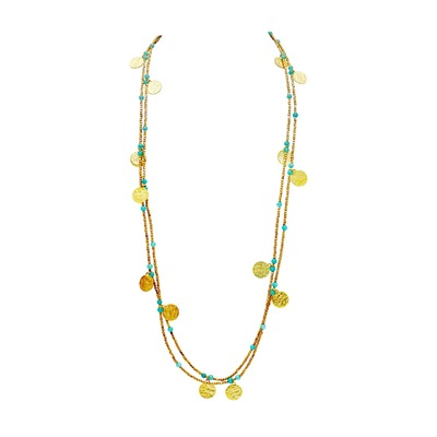 Collier multi-tours - doré