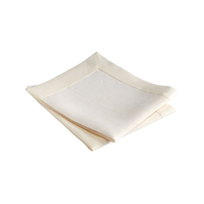Blanc Cerise delices de lin - lot de 2 serviettes de table en lin ivoire - delices de lin ivoire